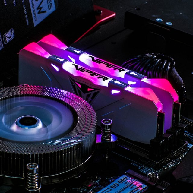 Patriot выпускает двухканальные комплекты памяти Viper RGB DDR4