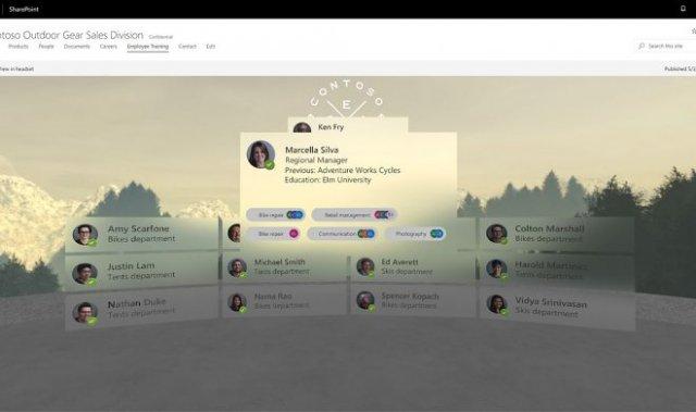 Microsoft переносит SharePoint в виртуальную реальность