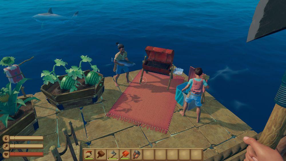 Симулятор выживания на плоту Raft вышел в раннем доступе Steam