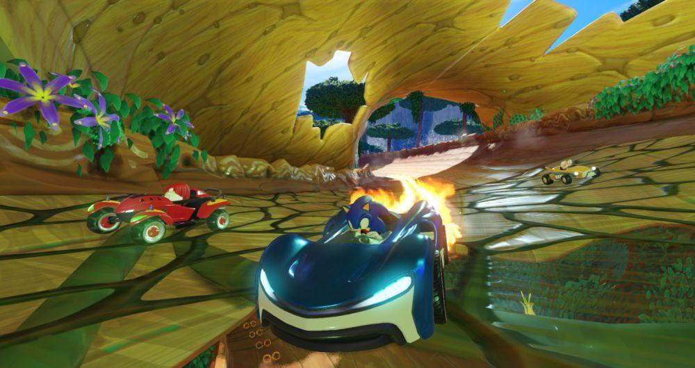 Утекли первые скриншоты и бокс-арт Team Sonic Racing от Sega