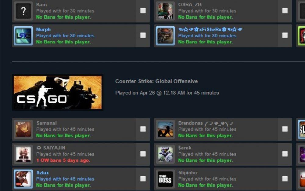 Игроки теперь могут узнать, кого из читеров забанили в Steam. Для Chrome и Firefox вышло расширение Ban Checker