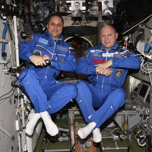 Российский космонавт рассказал о «перспективных космических носках»