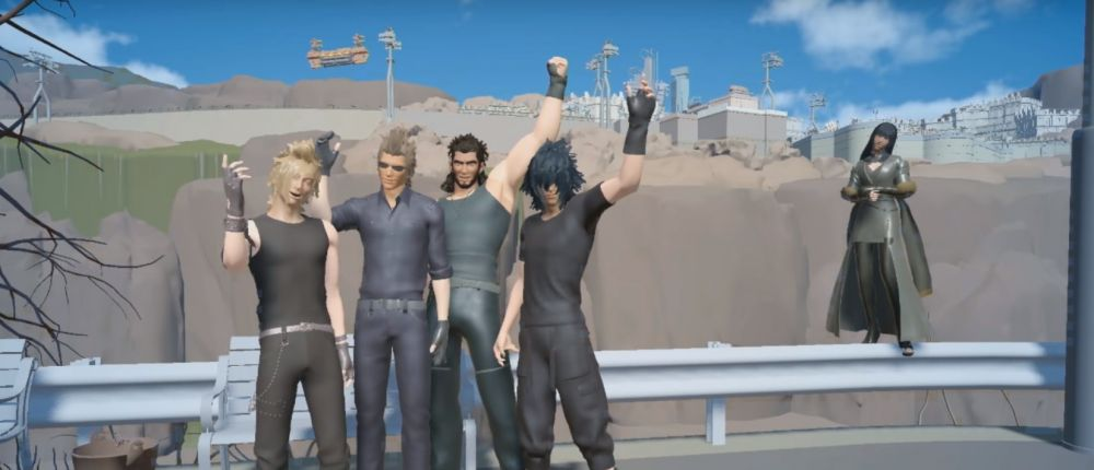 Посмотрите, как мир Final Fantasy 15 на минимальных настройках захватили розовые кактусы (видео)