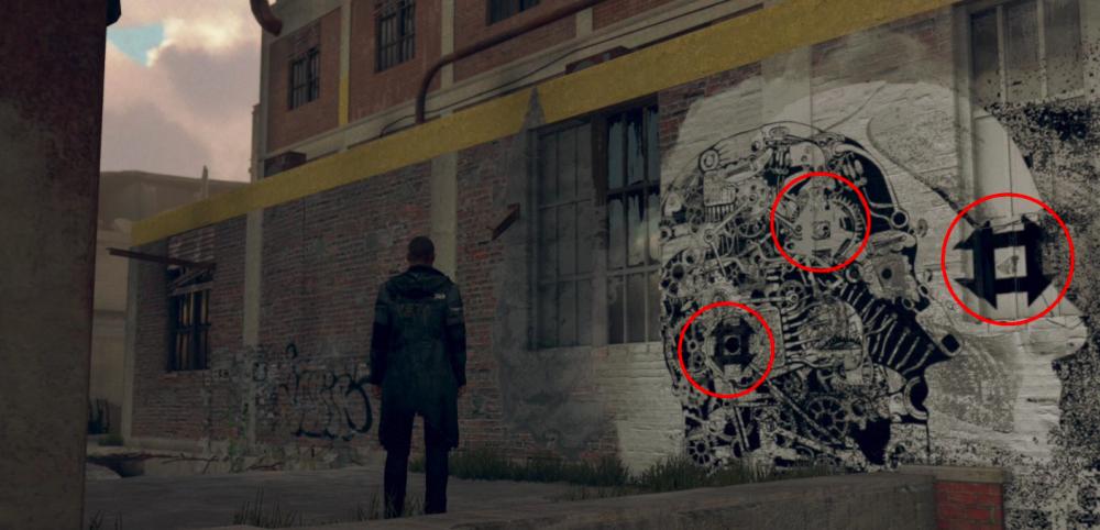 Где и как в Detroit: Become Human найти все граффити, ведущие к Иерихону