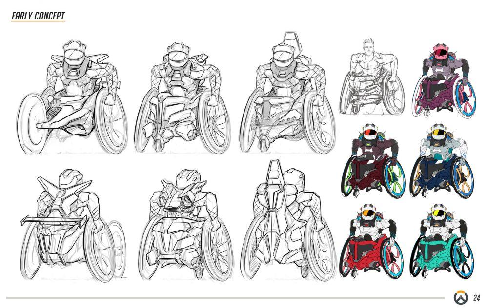 Для Overwatch придумали героев-инвалидов