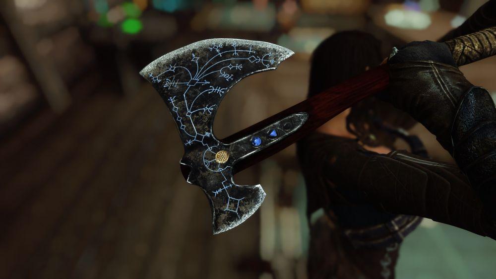 В Skyrim добавили топор «Левиафан» из God of War
