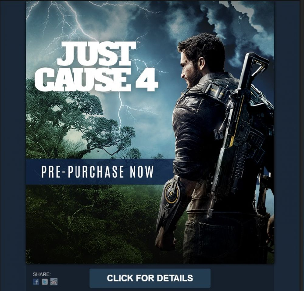 Just Cause 4 заметили в Steam
