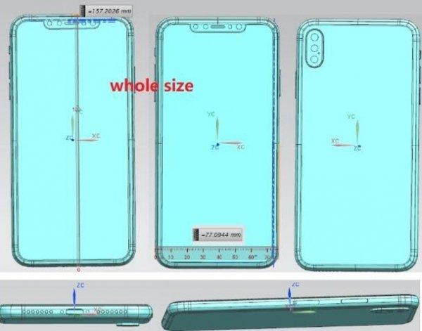 В Сети просочились чертежи нового флагманского iPhone