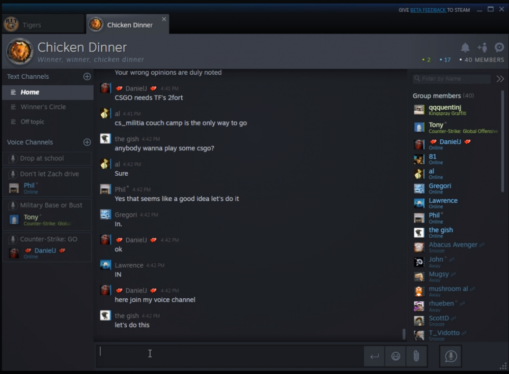 Valve обновила чат в Steam. Можете удалять Discord