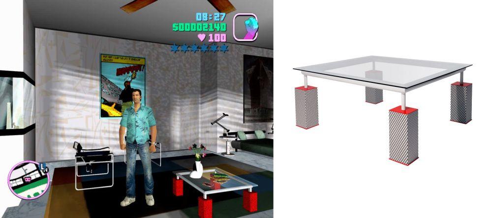 Мебель из GTA Vice City можно купить в реальности, но она стоит тысячи евро