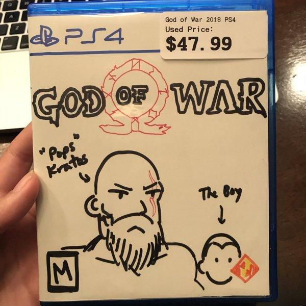 В американском магазине продают God of War с нарисованной от руки обложкой