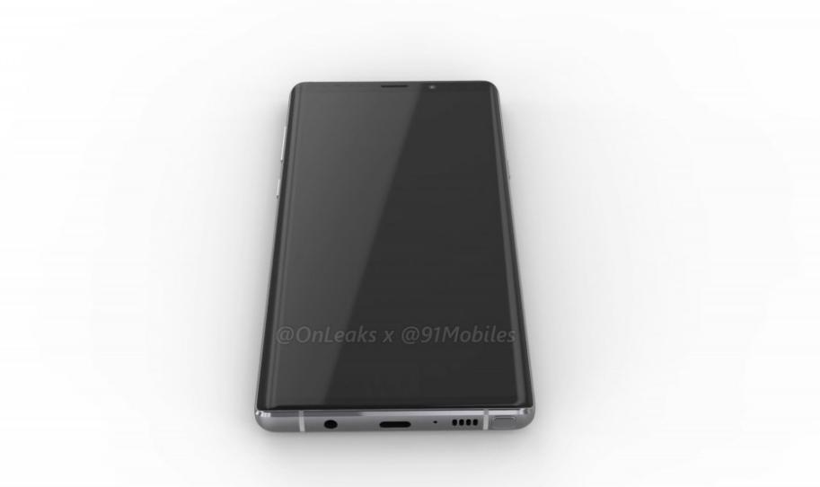 Samsung Galaxy Note 9 показали со всех сторон на 3D-рендере