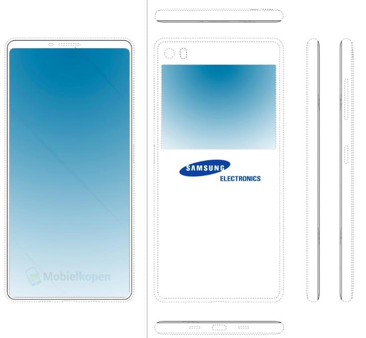 Samsung патентует безрамочный смартфон с двумя дисплеями