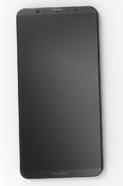 Huawei Mate 20 на фото без «челки»