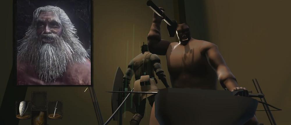 Графику Dark Souls Remastered превратили в набор 3D примитивов на минимальных настройках