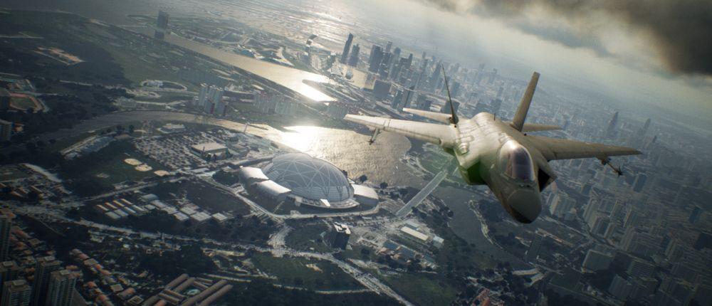 На новых скриншотах Ace Combat 7: Skies Unknown показана молния, обледенение корпуса и карта игрового мира