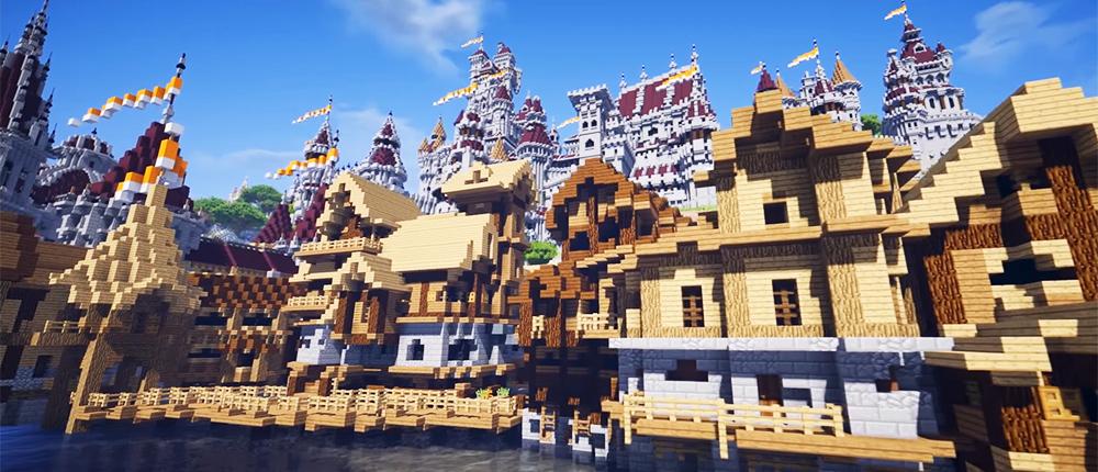 Посмотрите, как выглядит Новиград из Witcher 3 в Minecraft