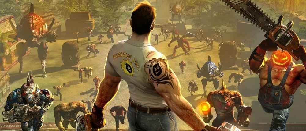 Посмотрите первый геймплей Serious Sam 4: Planet Badass, где герой давит врагов на комбайне
