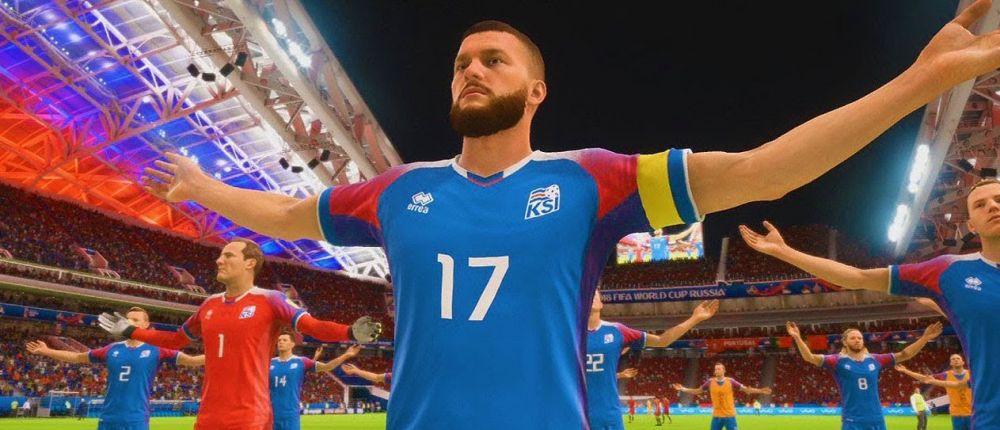 В FIFA 18 добавили перфоманс викингов от исландских фанатов