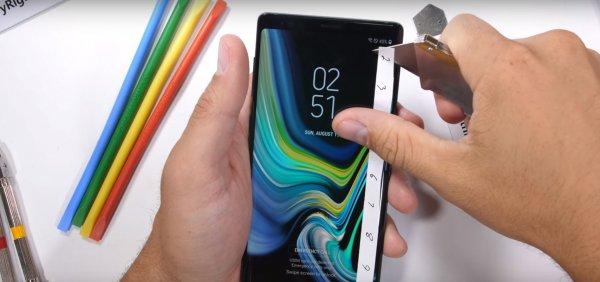 «Показал себя достойно»: Блогер проверил на прочность Samsung Galaxy Note 9 и стилус S Pen