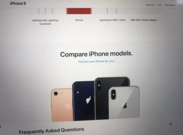Грандиозный слив: На официальном сайте Apple по ошибке разместили страницу с iPhone 9