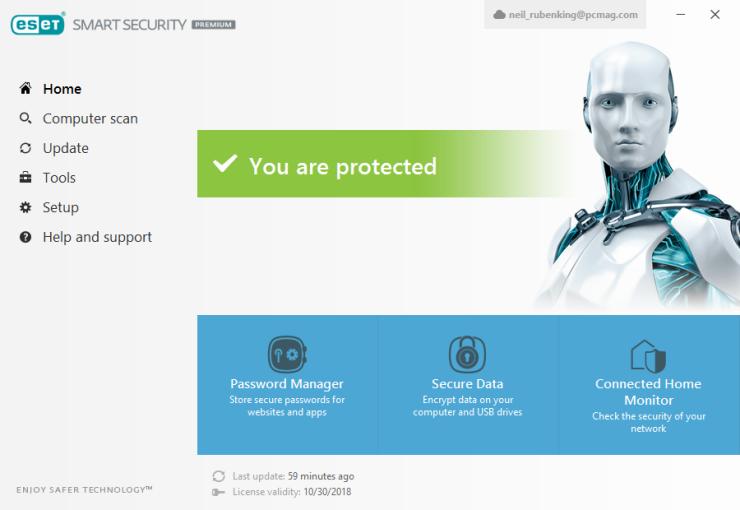 Основные достоинства ESET Smart Security Family
