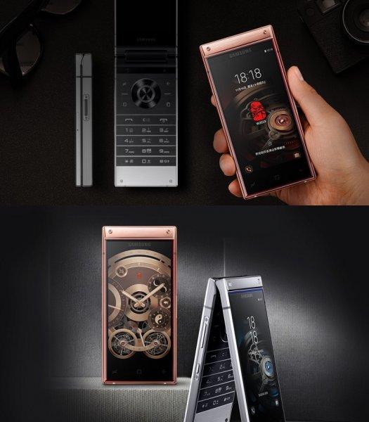 Представлен Samsung W2019 в виде раскладушки с двумя экранами