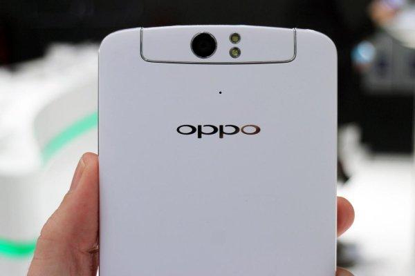 В Сети появились фото смартфона Oppo с выдвижной камерой