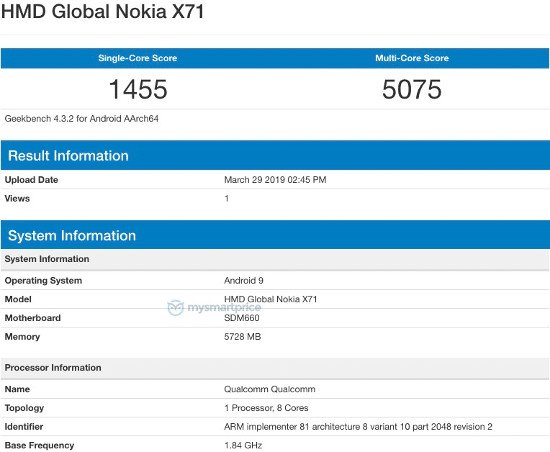 Утечка: Смартфоны Nokia X71 и Nokia 8.1 Plus могут оказаться разными моделями