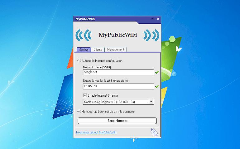 MyPublicWiFi– раздача Wi-Fi сети с ноутбука или компьютера