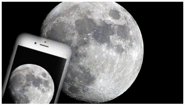 iPhone 6 заснял Луну в превосходном качестве